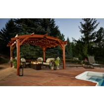 SONOMA 12x16 Redwood Wood Pergola
